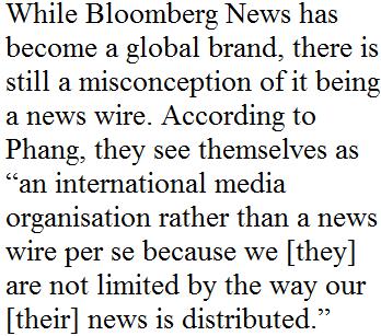 彭博社新加坡分社社长:每篇新闻稿必与全球读者相关